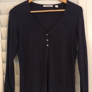 Country Road Size Large Navy Long Sleeve T-Shirt